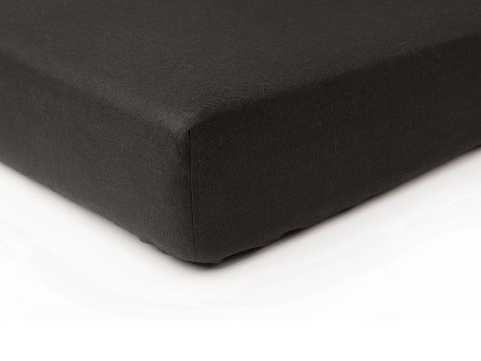 black linen fitted sheet