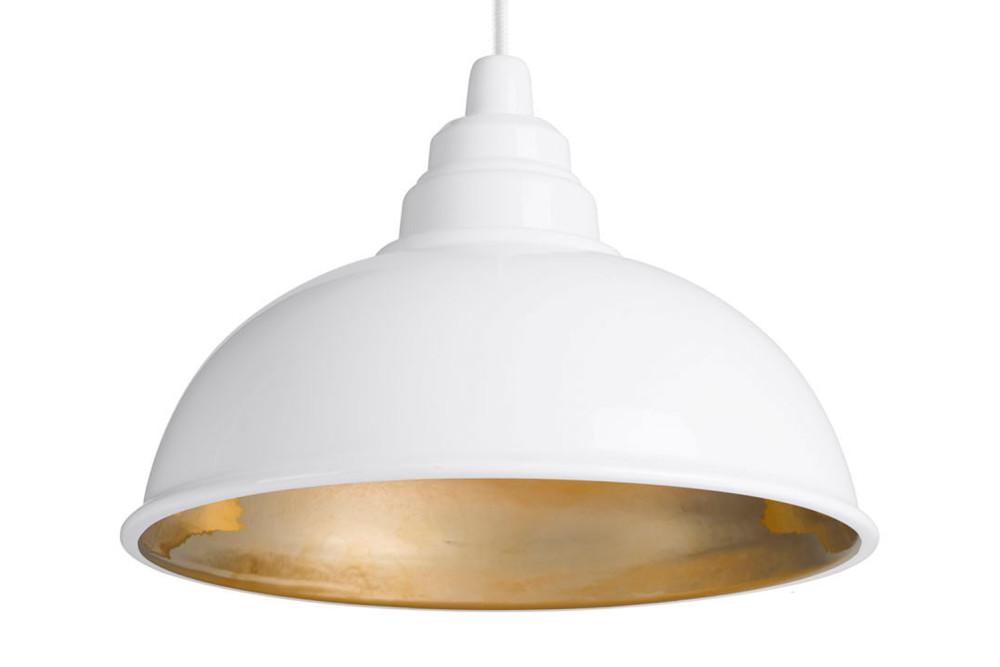 Botega Pendant Lamp White And Gold By Enrico Zanolla