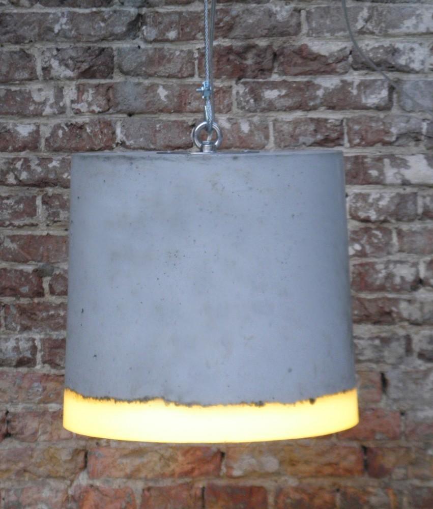 concrete pendant light large by renate vos