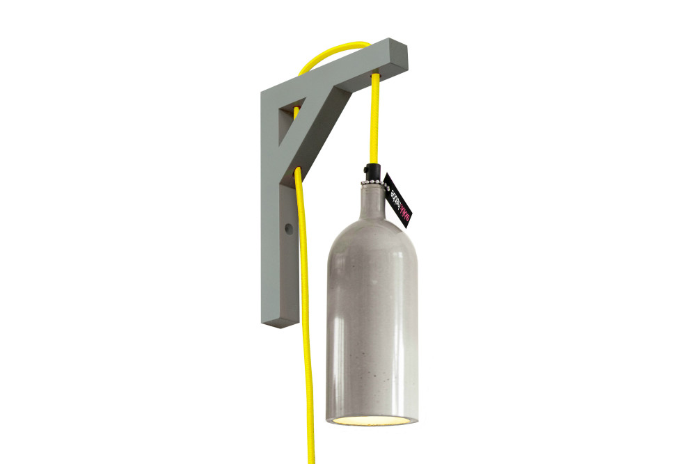 Wall Lamp With Electrical Cord : Concrete Wall Light Yellow Power Cord by Studio KIKKE & HEBBE