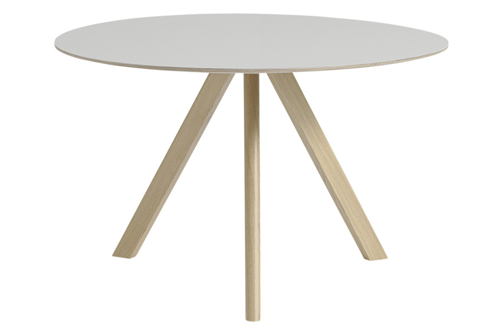 Copenhague linoleum top round dining table cph20 by hay for Off white round dining table