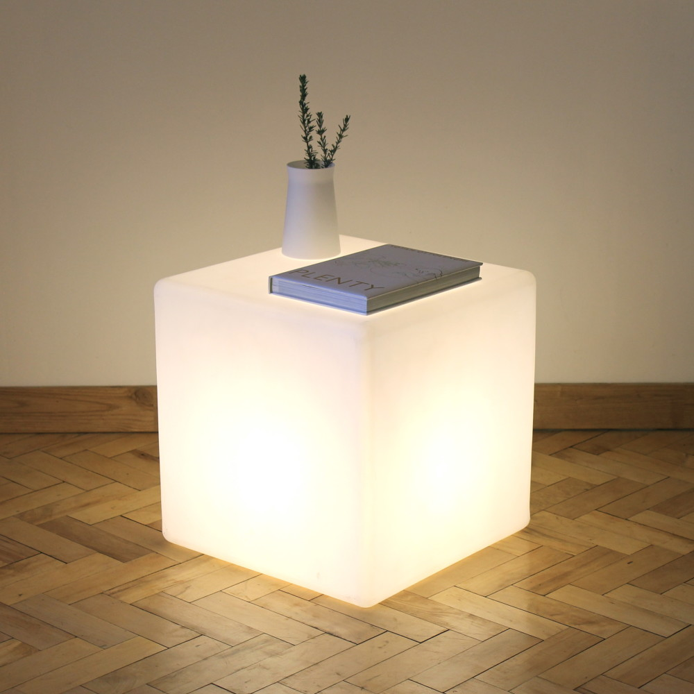 Cube Floor Lamp Side Table By One Foot Taller