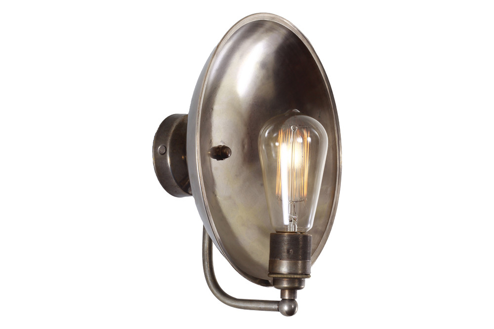 Francis Wall Lamp Antique Silver : Cullen Wall Light Antique Brass by Mullan Lighting Design