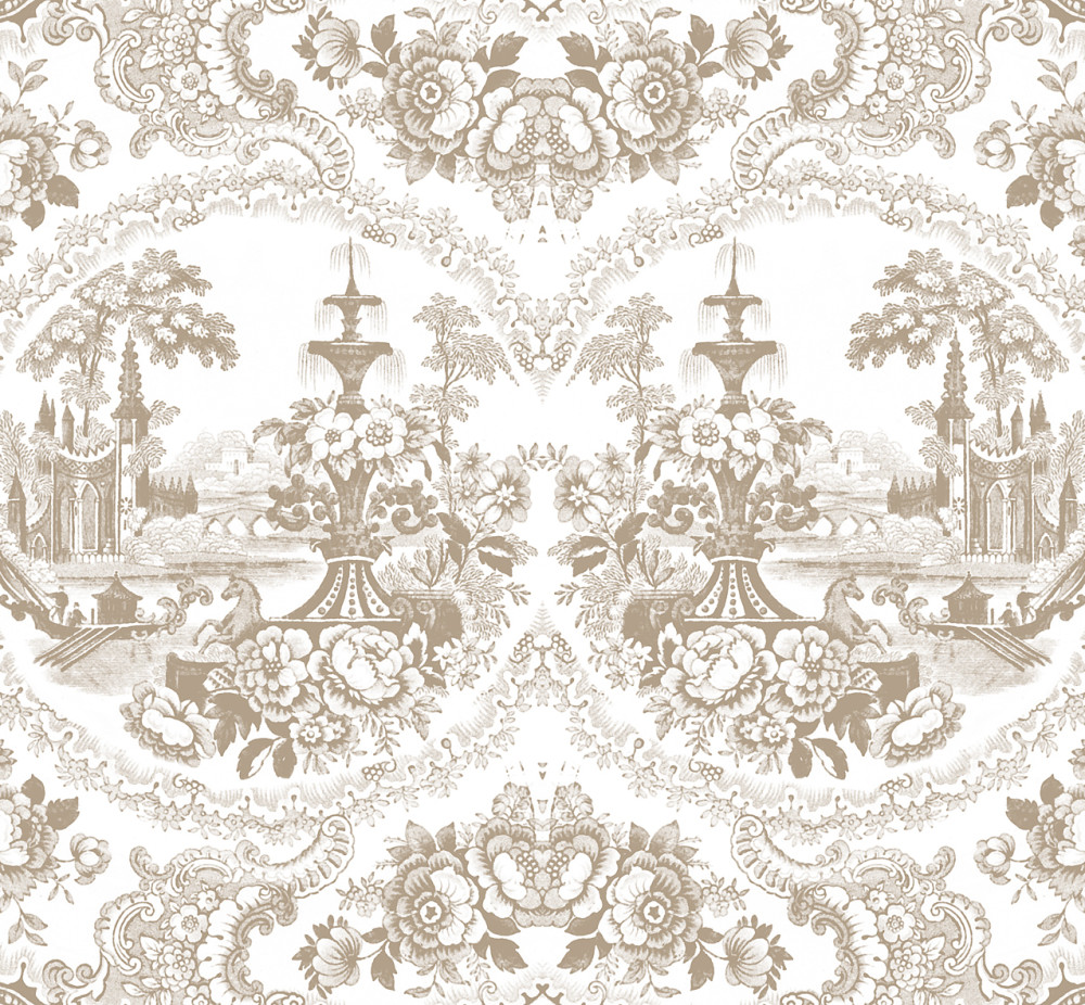 Delft Baroque Wallpaper - Beige