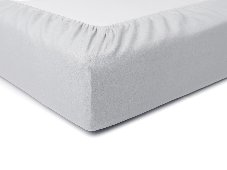 dove grey linen fitted sheets