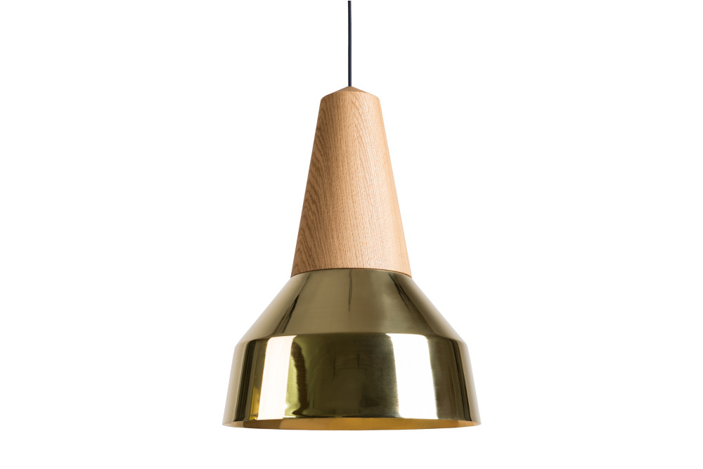 Eikon Ray Pendant Light in Oak and Gold