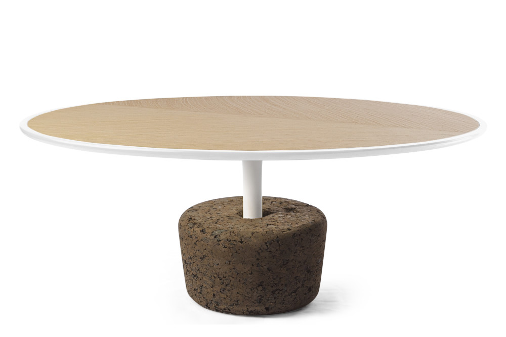 Flora wide coffee table cold white tall by dam for Coffee tables 30cm wide