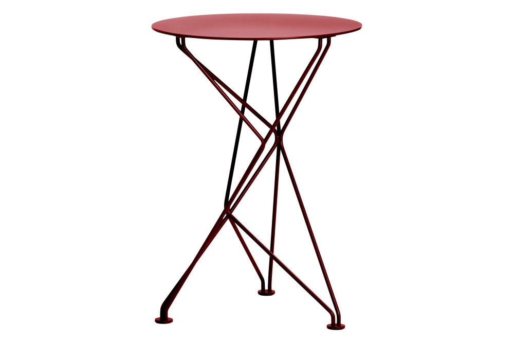 Fractal Side Table in Red Stove Enamel by Niche London