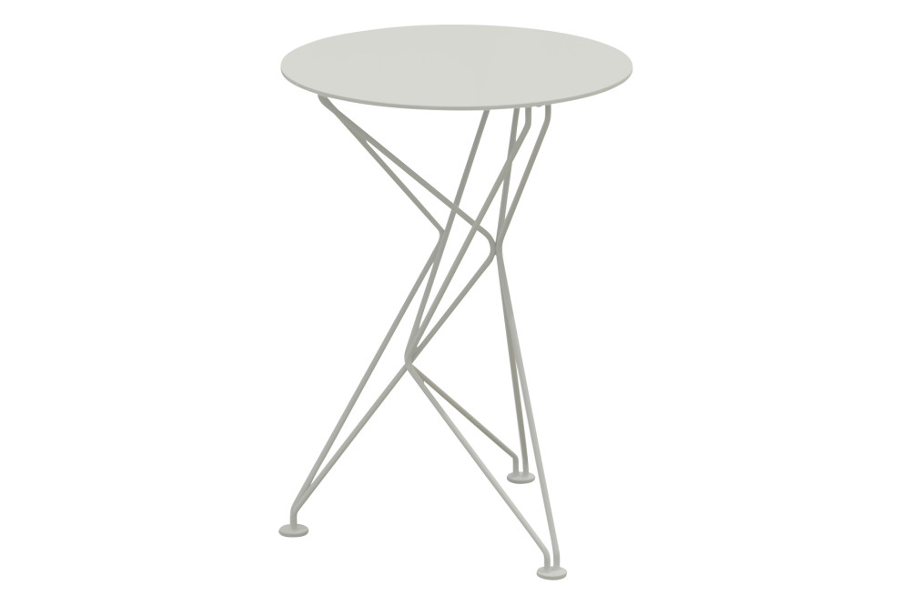 Fractal Side Table in White Stove Enamel by Niche London
