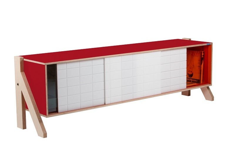 Frame Sideboard 01 Mid - Cherry Red