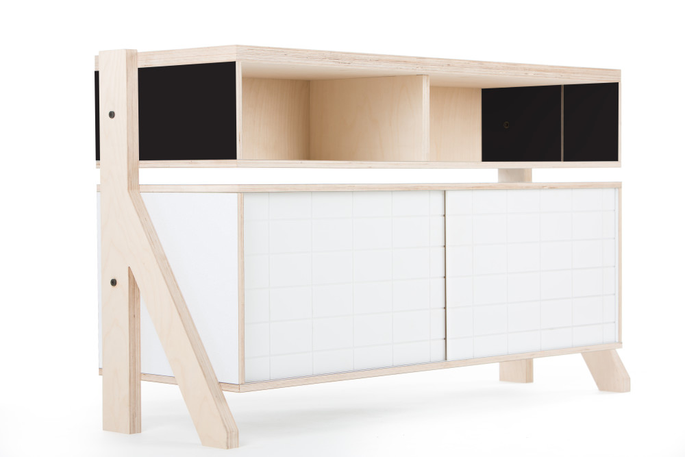 Frame Sideboard 02 Small - Inky Black