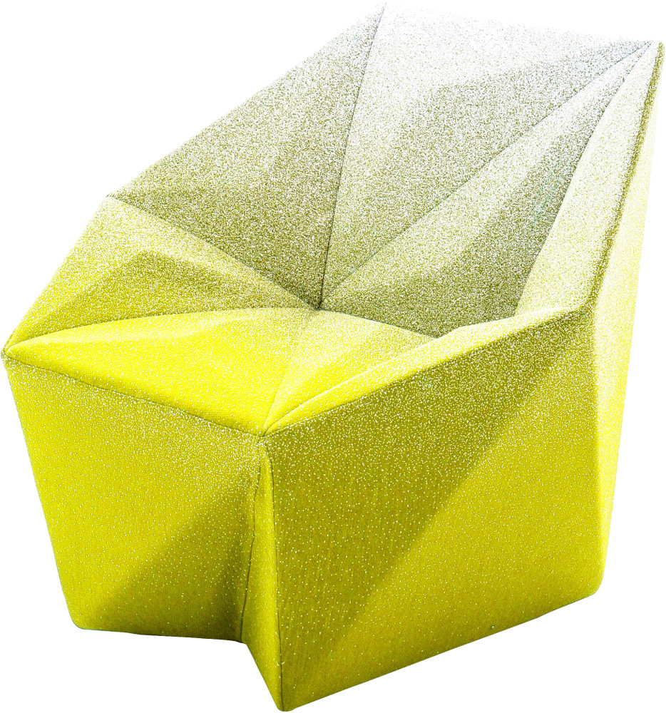 Gemma Armchair by Daniel Libeskind for Moroso, upholstered in Blur - yellow