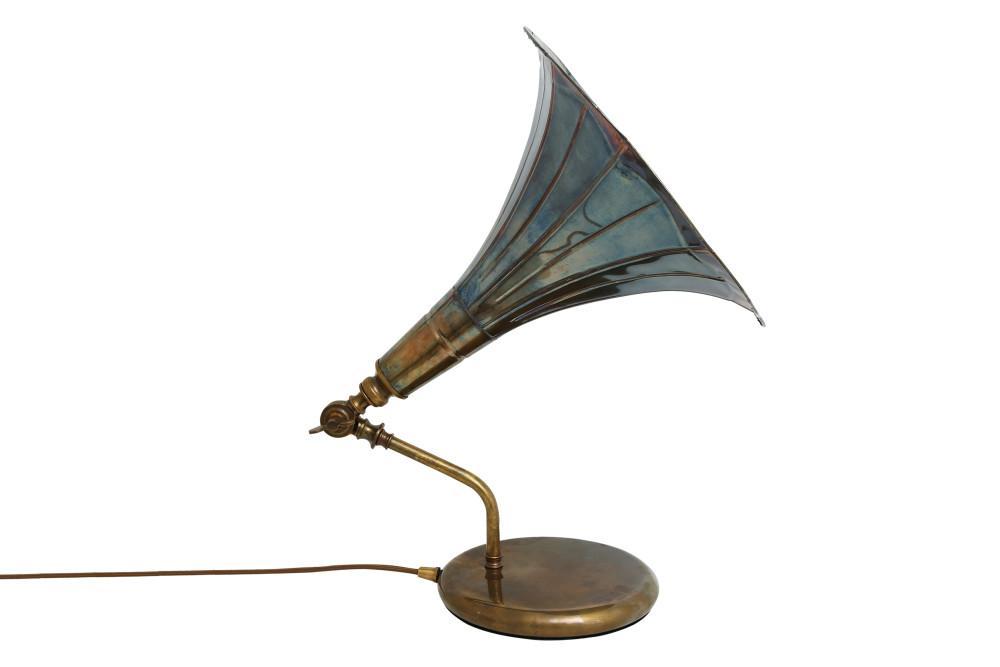 Gramophone Table Lamp