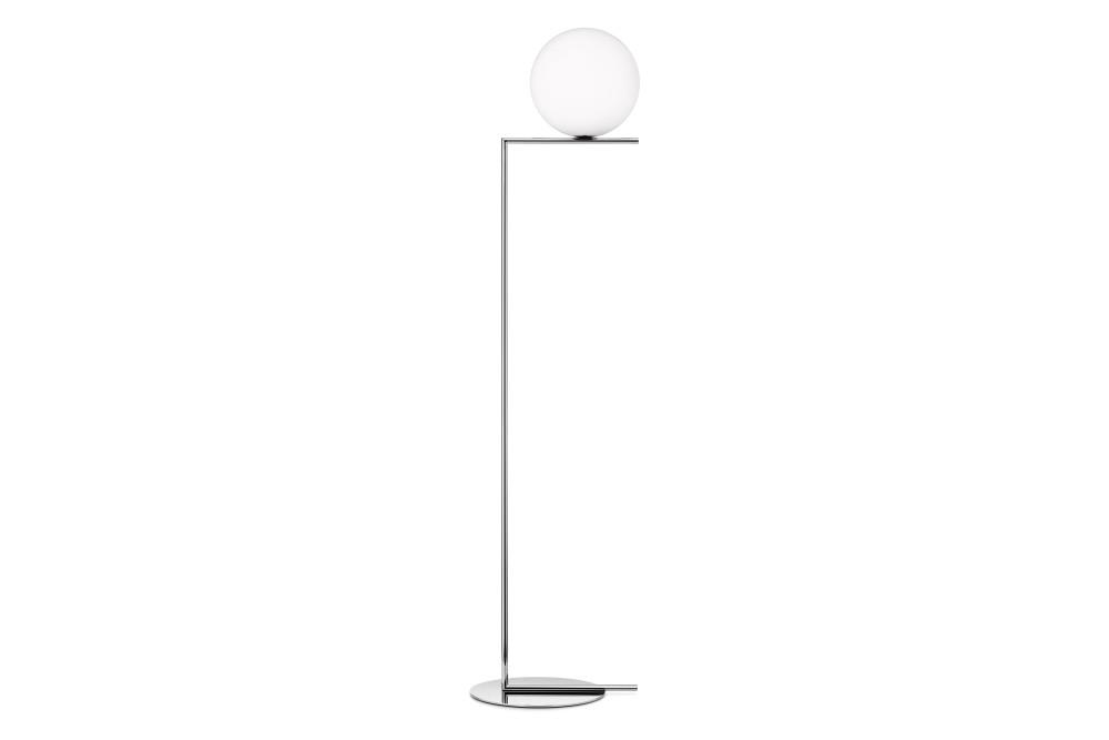 Ic floor lamp f1 brushed brass small by flos for Orbit michael metal floor lamp brushed steel