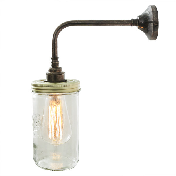 Jam Jar Wall Light