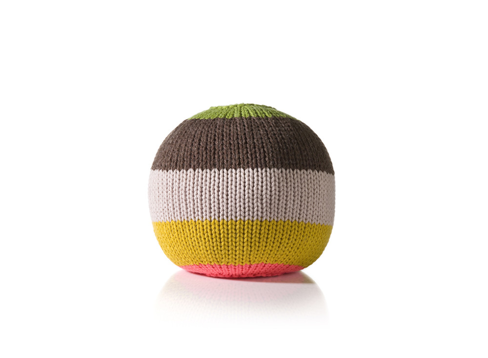 Knitted Ball Cushion in Small Curry by Stine Leth for Korridor