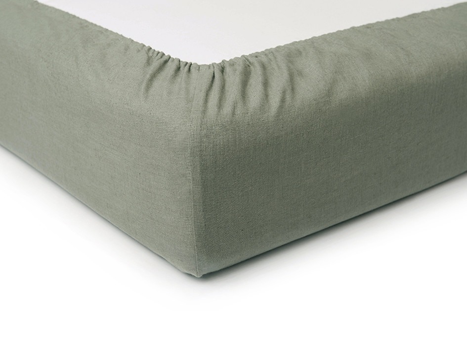 linen fitted bed sheet