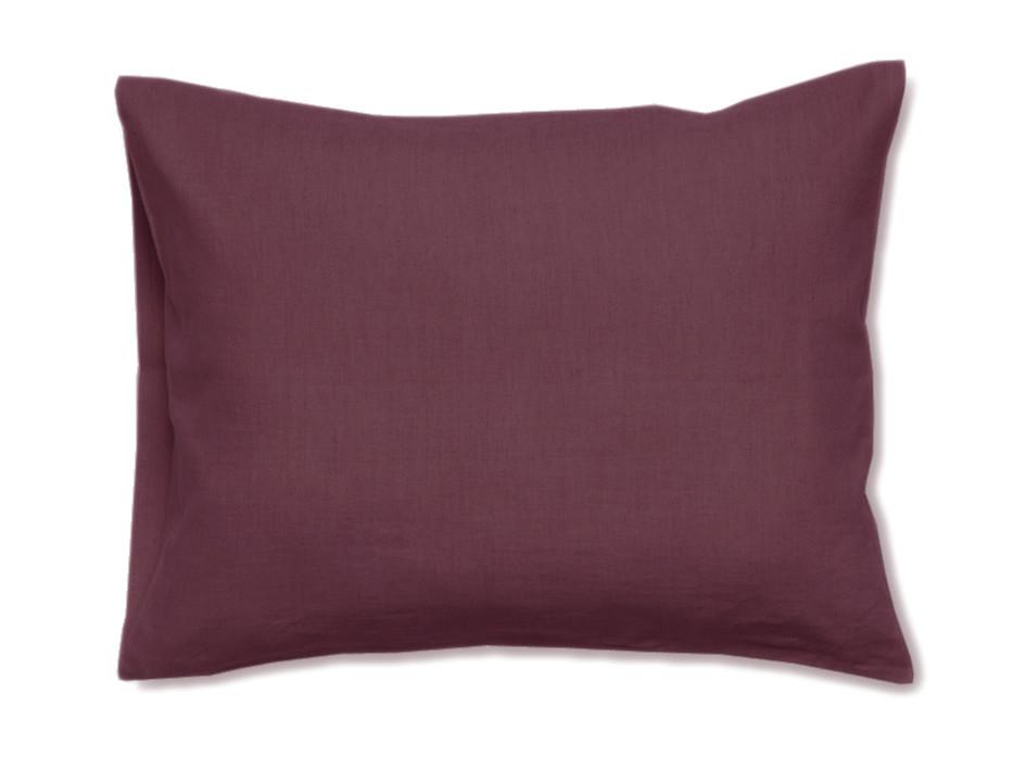 Linen pillowcase Eggplant