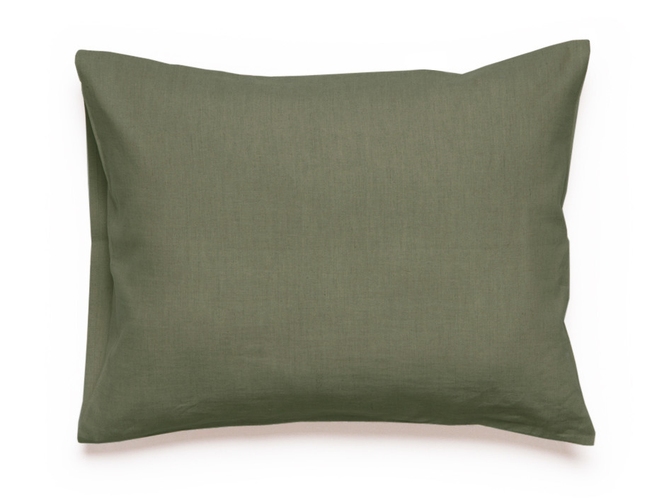 Linen pillowcase Moss green
