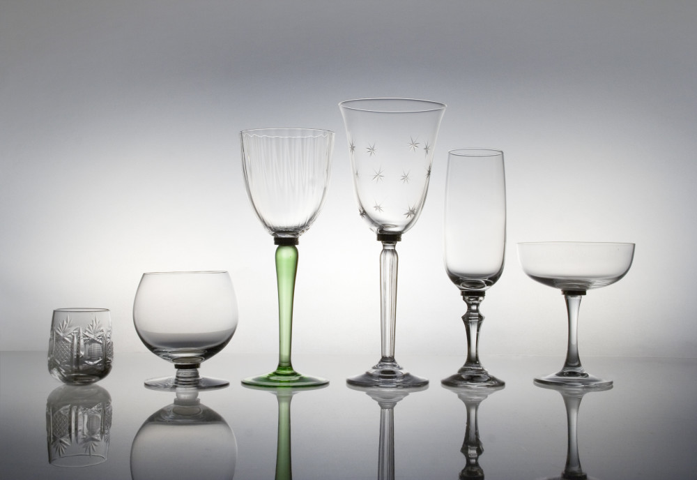 Mixers cocktail glasses