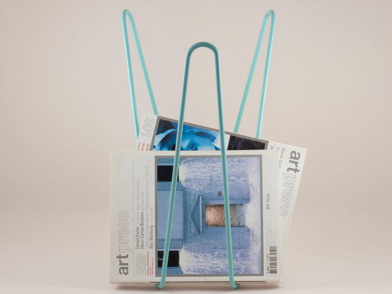 MW magazine rack turquoise