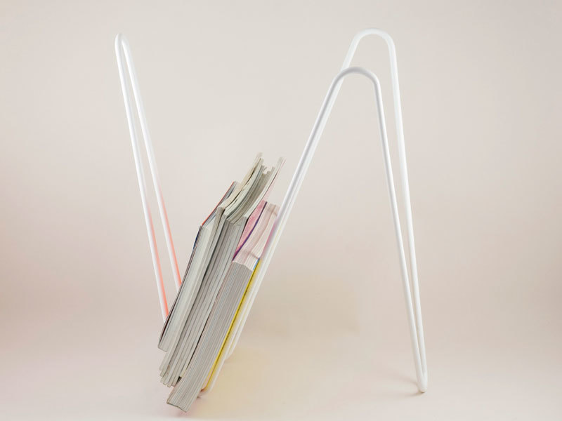 MW magazine rack white profile