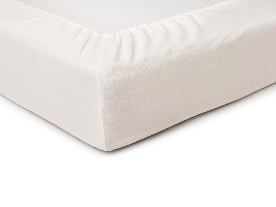 Off white fitted sheet