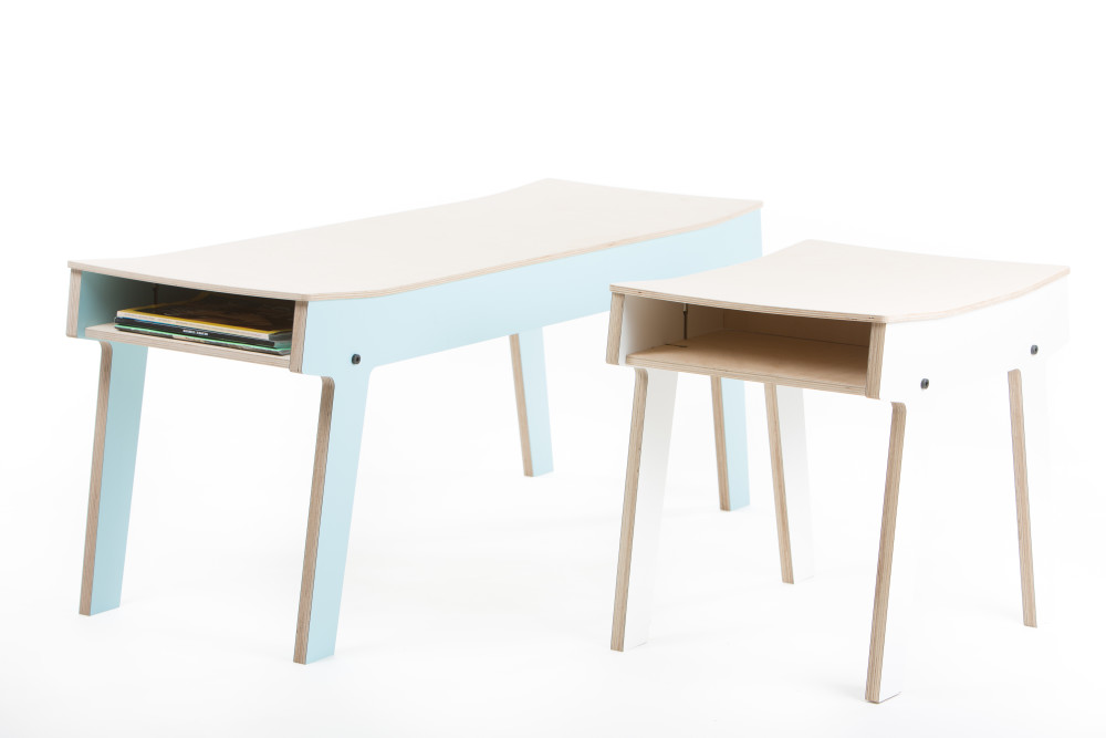 rform Pi Bench - Stone Blue Grey
