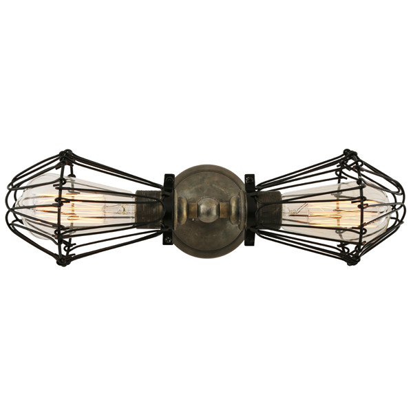 Praia Vintage Double Cage Wall Light