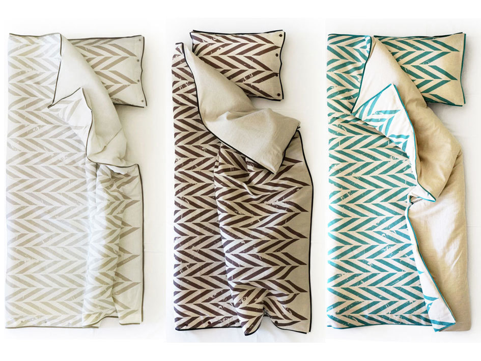 printed linen bedding set by lovely home idea
