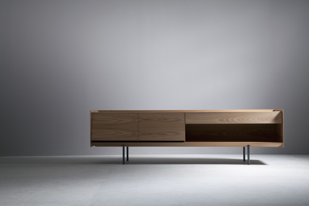 Sideboard 240 elm with doors by eric degenhardt for boewer for Sideboard 240