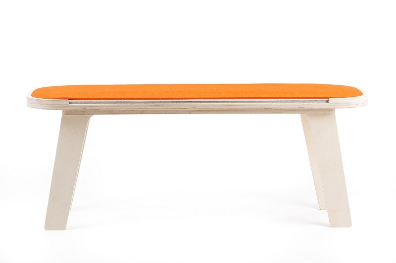 rfrom Slim Touch Bench - Orange - White - Grey