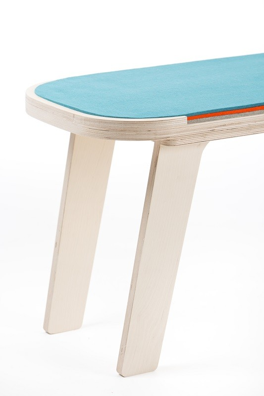 rfrom Slim Touch Bench - Blue - Orange - Grey