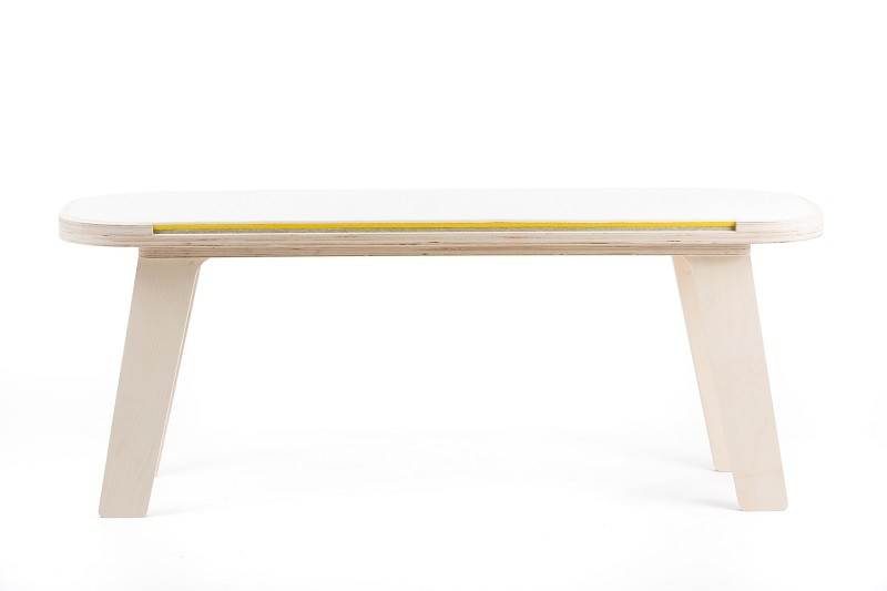 rfrom Slim Touch Bench - White - Yellow - Grey