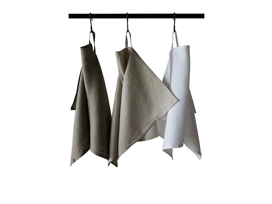 Natural linen towel set