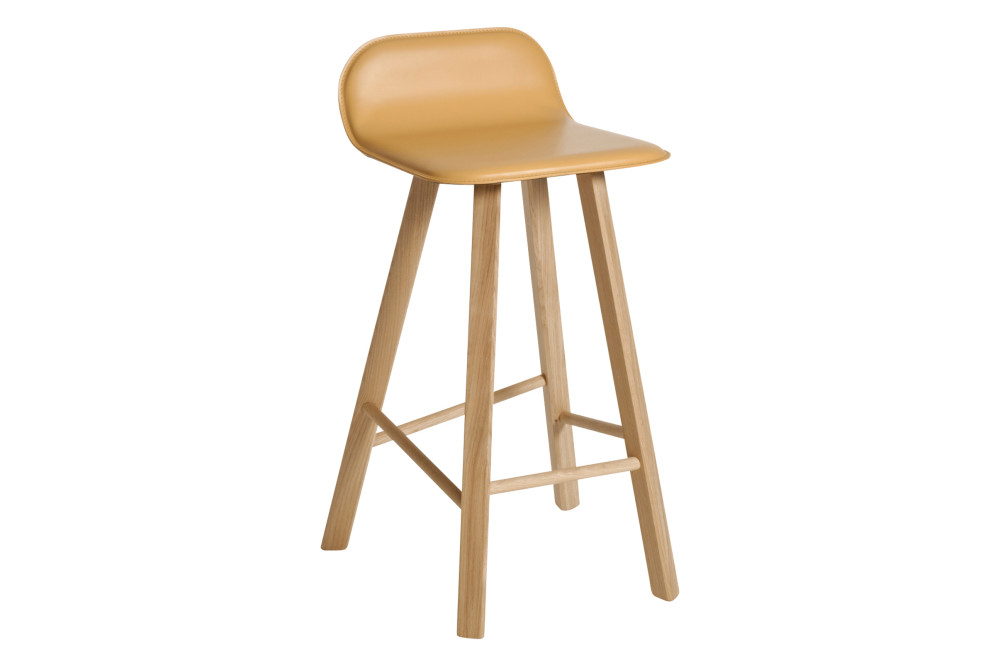 Tria Low Backed Bar Stool Natural Leather By Col 233 Italian