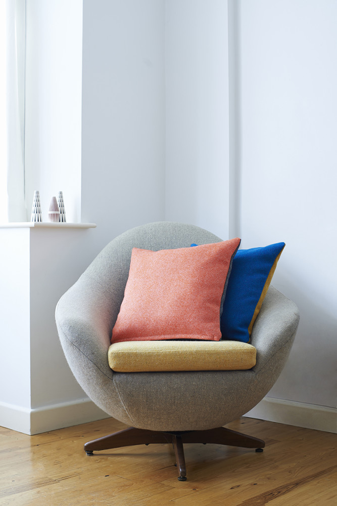 Twin Tone Cushion - Charcoal & Rosie Pink