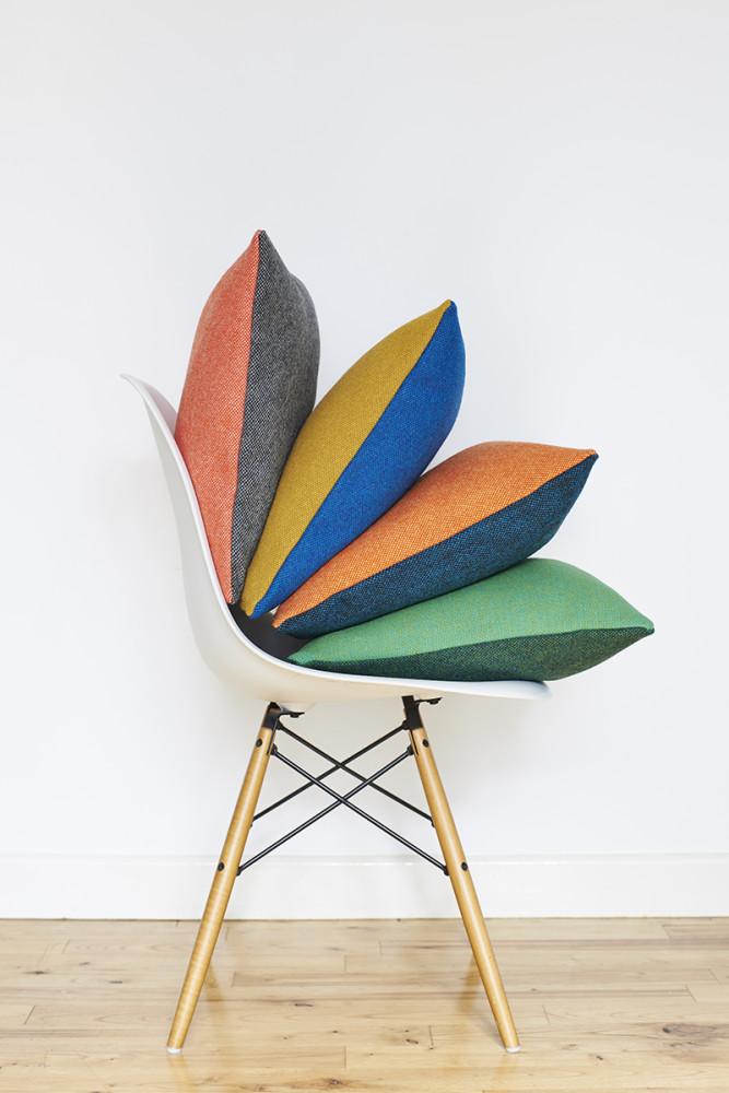 Twin Tone Tweed Cushion