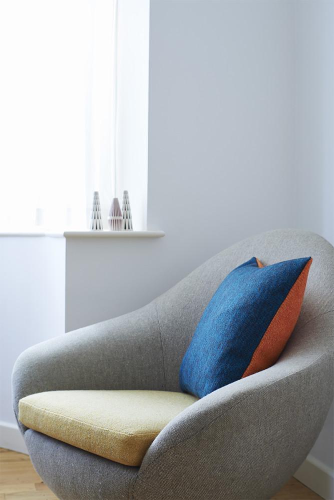 Twin Tone Cushion - Seville Orange & Mallard Blue