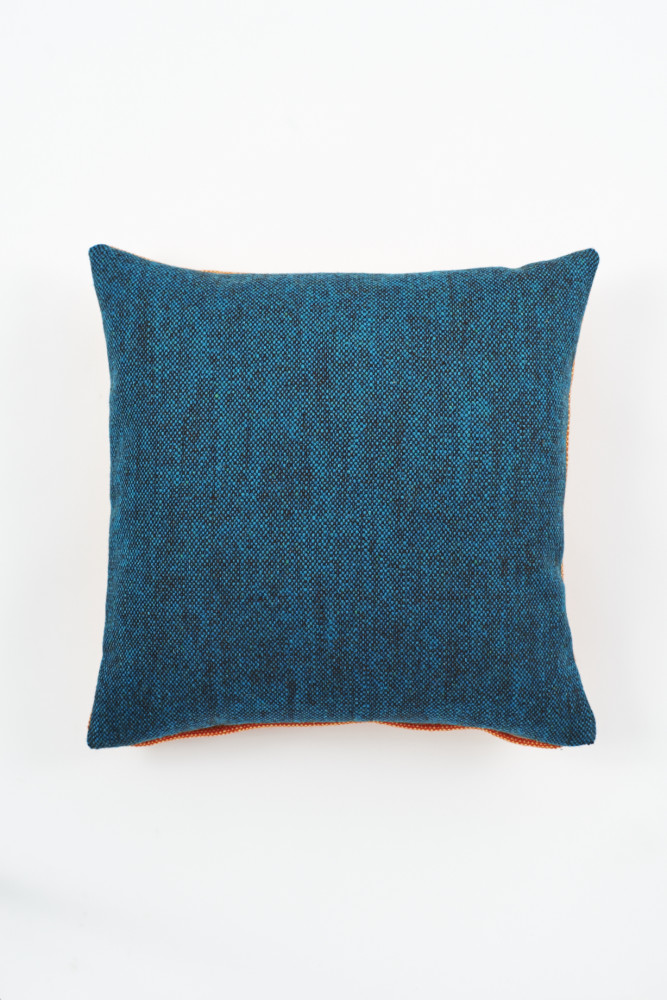 Twin Tone Cushion - Mallard Blue