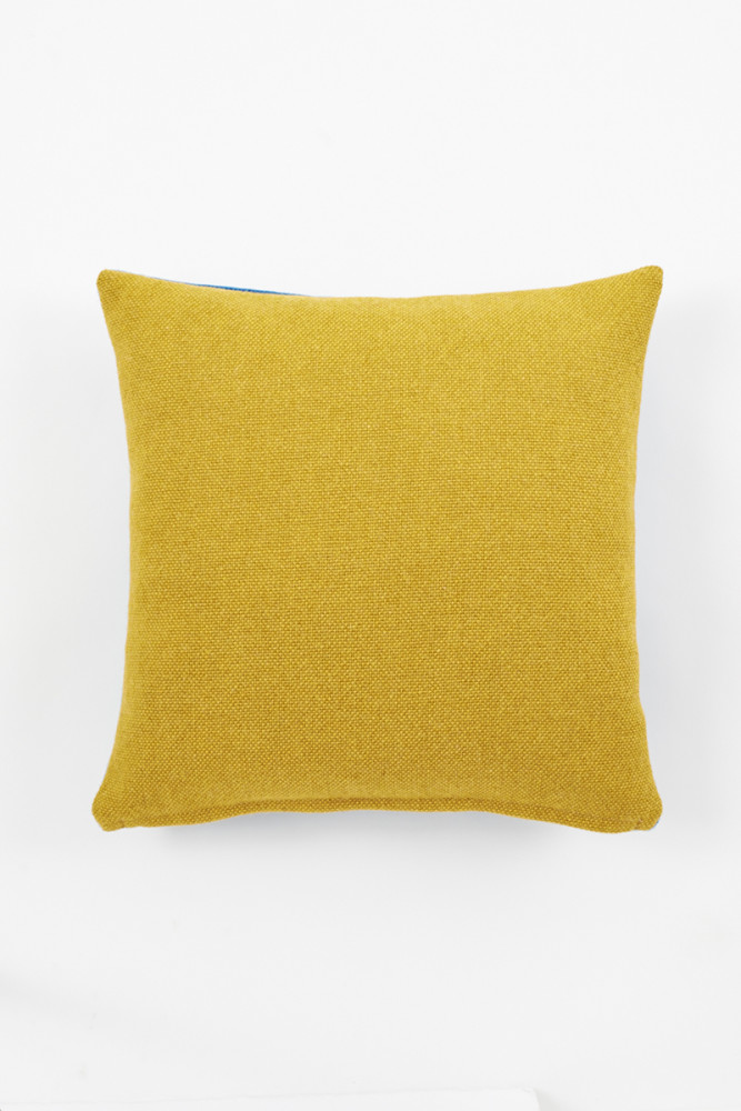 Twin Tone Cushion - Mustard Yellow