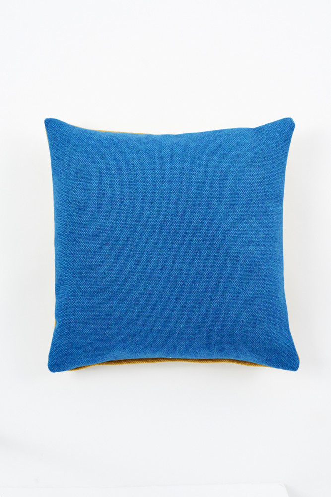Twin Tone Cushion - Ionian Sea Blue