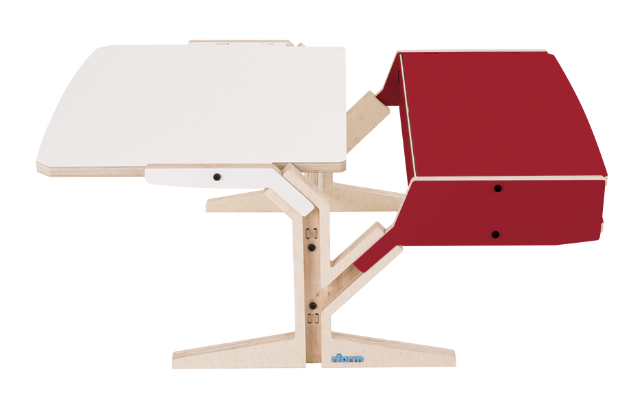 Vegetale Coffee Table - Box & Horizontal Tablet - Cherry Red