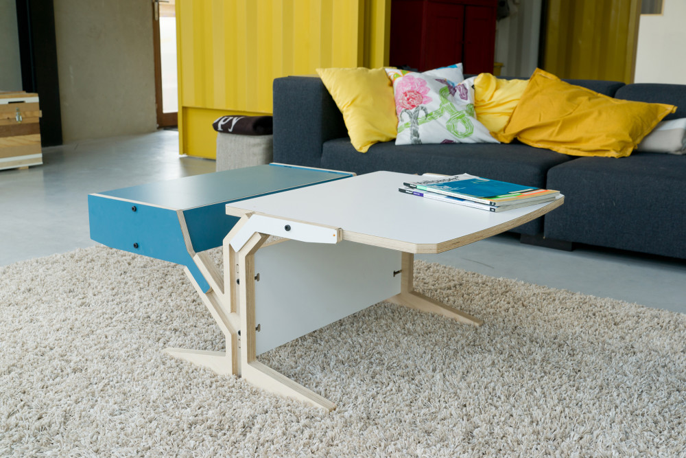 Vegetale Coffee Table - Box & Horizontal Tablet - Iris Blue