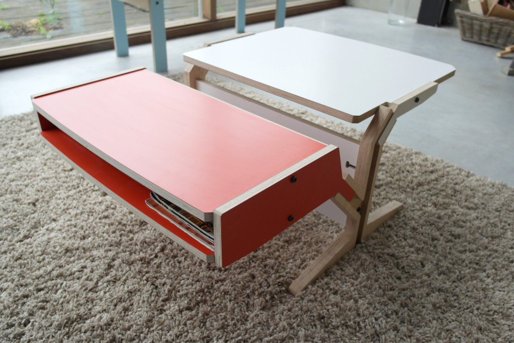 Vegetale Coffee Table - Box & Horizontal Tablet - Foxy Orange