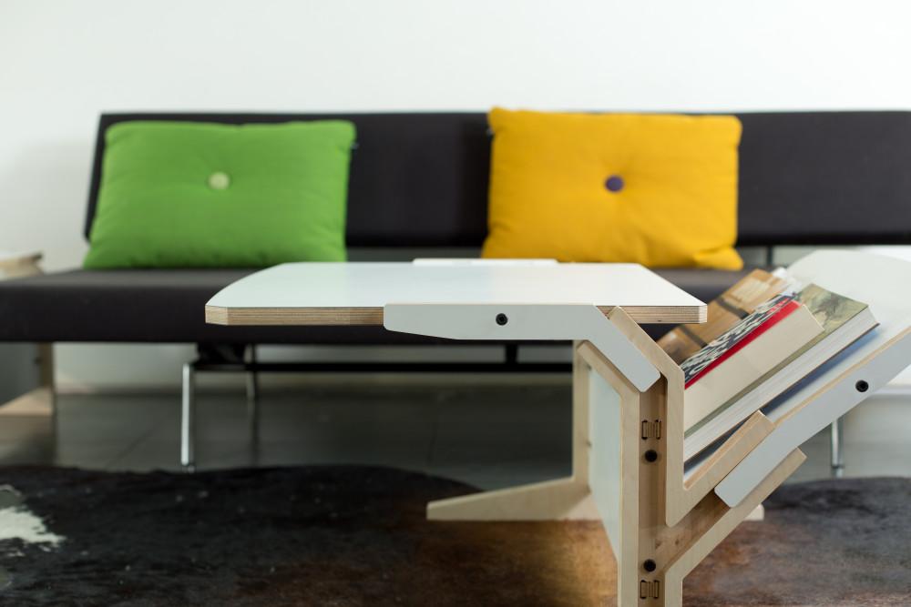 Vegetale Coffee Table - Vertical & Horizontal Tablet - Snow White