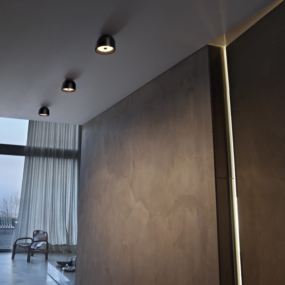 Wan C W Ceiling Light Chrome by Johanna Grawunder For Flos