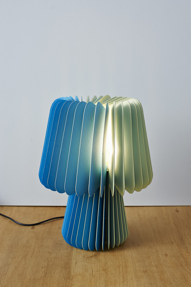 Beam Table Lamp - Tabriz Blue & Sorbet Yellow