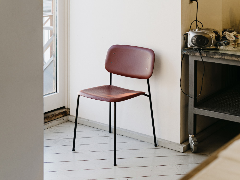 Soft Edge Dining Chair with Metal Frame by Hay – Metal Frame Dining Chairs