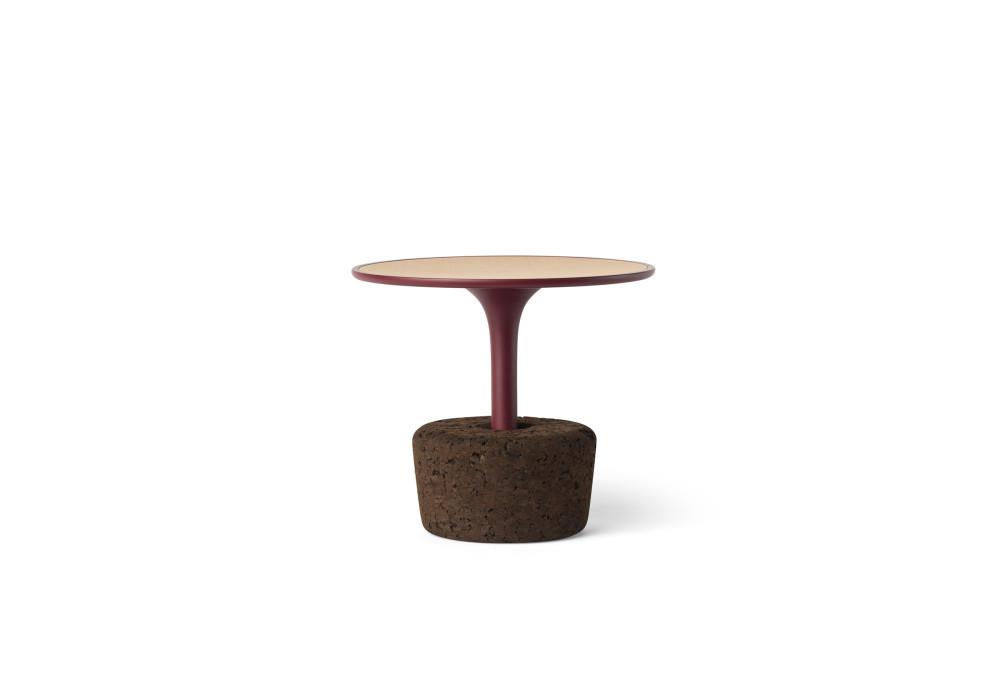 Flora small low / oak + luxury red